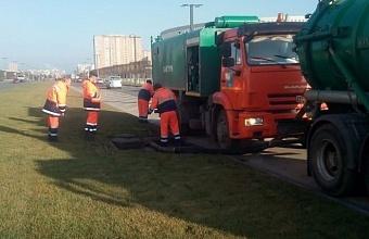 В Краснодаре расчистили почти 53 км сетей ливневой канализации