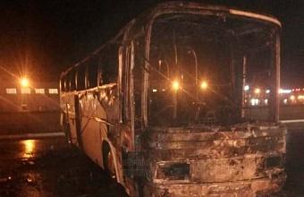 На Кубани ночью горели семь автобусов