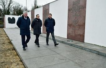 В Краснодаре ремонтируют мемориальный комплекс «Вечный огонь»