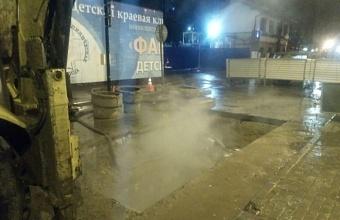 В Краснодаре ограничили движение транспорта по улице Кондратенко