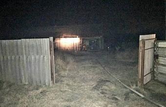 При пожаре на Кубани погиб 70-летний мужчина