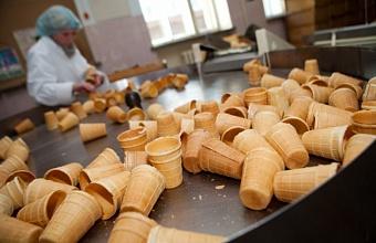 Цех по производству вафельных стаканчиков для мороженого построили на Кубани