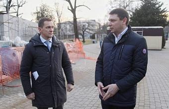 В Краснодаре реставрируют памятник «Воинам-освободителям»