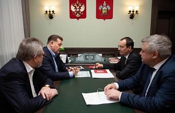 Юрий Бурлачко обсудил строительную отрасль Кубани с президентом «Девелопмент-Юг»