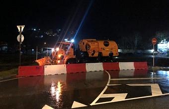 Движение на федеральной трассе в Сочи перекрыли из-за пожара на подстанции