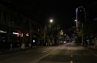 На главной улице Краснодара погасили иллюминацию