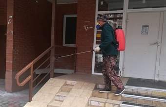 Ежедневно в 10 тыс. домов Краснодара проводят дезинфекцию