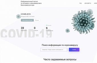 На Кубани портал по ситуации с коронавирусом посетили более 74 тыс. пользователей