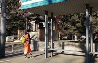 В Краснодаре ежедневно дезинфицируют 800 км дорог и тротуаров