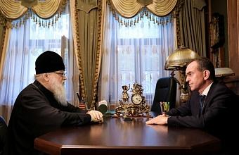 Губернатор Кубани поздравил митрополита Исидора с днем рождения