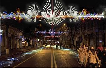 Жители Краснодара могут проголосовать за проект подсветки улицы Красной