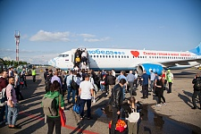 Аэропорт Краснодара принял самолет с изображением медицинской маски
