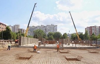 На территории школы №87 в Краснодаре готов фундамент нового корпуса начальных классов