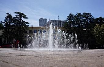 Сезон фонтанов стартовал в Сочи