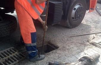В Краснодаре специалисты муниципальной службы прочистили 177 км ливневки