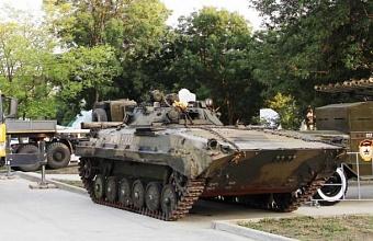 В парке военной техники в Анапе появился новый экспонат