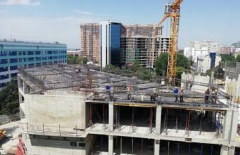 В Краснодаре заканчивают строить каркас нового здания детской краевой больницы