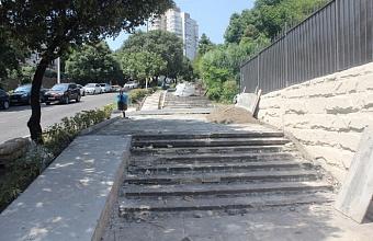 В Сочи реконструируют одну из центральных улиц в микрорайоне Лазаревское