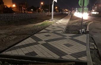 Подходы к железнодорожному переходу по ул. Новороссийской оборудовали в Краснодаре