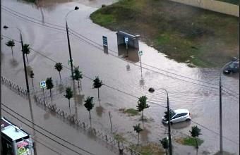 После ливня в Краснодаре подтопило 25 участков дорог