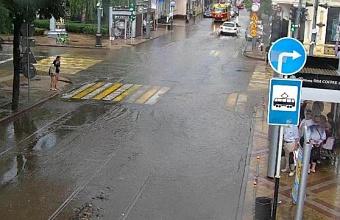 В Краснодаре частично восстановили движение общественного транспорта