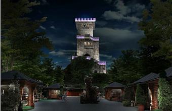 На горе Ахун в Сочи для посещений ночью открылась смотровая башня