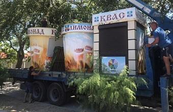 Нелегально установленные торговые объекты продолжают демонтировать в Анапе