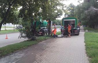 Служба по содержанию ливневки в Краснодаре прочистила почти 194 км коллекторов