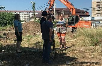 В Музыкальном микрорайоне Краснодара снесли фундамент-самострой