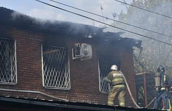 Офисное здание загорелось в Краснодаре на ул. Российской