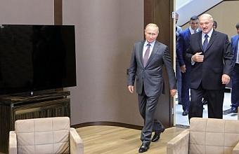 Переговоры Путина и Лукашенко проходят в Сочи