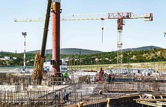 В новом терминале аэропорта Геленджика начали второй этап монтажа металлоконструкций