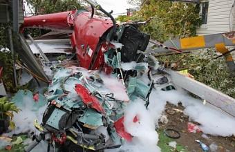На Кубани будут судить командира упавшего во дворе частного дома в Сочи вертолета