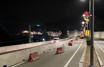 Из-за ремонта моста в Сочи изменилась схема движения