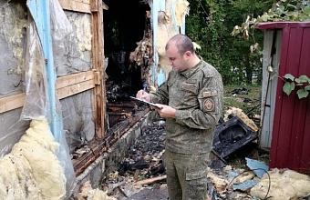 В Туапсинском районе при пожаре в строительном вагончике погиб мужчина