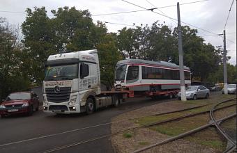 В Краснодар прибыл 25-й новый трамвай