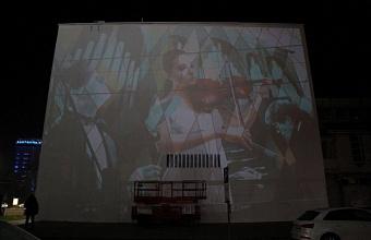 Граффити на стене администрации Краснодара завершит художник из Италии