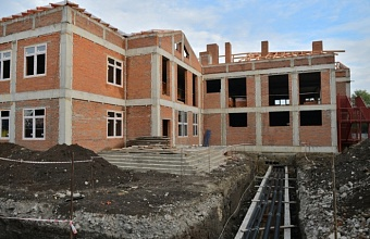 В краснодарском поселке Водники к осени 2021 г. достроят детсад