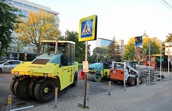 В Краснодаре сделают зеленые ограждения на участке ул. Постовой