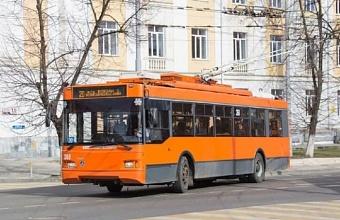 Схема движения троллейбусов №13 и №20 в Краснодаре временно изменится