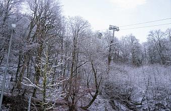 Налипание мокрого снега ожидается в горах Сочи