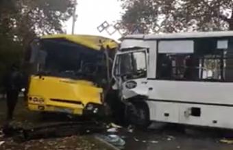 В Анапе при столкновении двух автобусов пострадали 9 человек