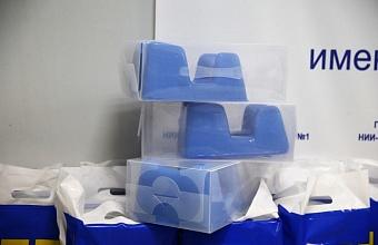 В больницы Кубани доставили партию протекторов для пациентов с COVID-19 на ИВЛ