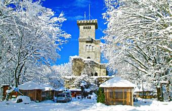 Башня Ахун в Сочи закрыта для туристов из-за снегопада