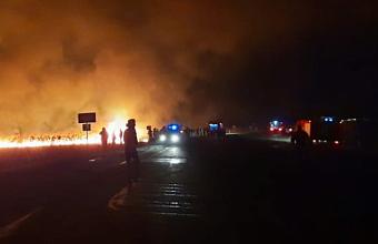 Крупный пожар в плавнях потушили в Анапе