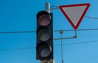 В Краснодаре до вечера отключены светофоры на пересечении ул. Минской и Харьковской