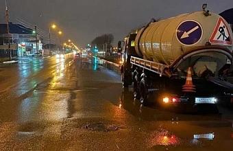 К ликвидации подтоплений в Краснодаре подготовили 20 единиц спецтехники