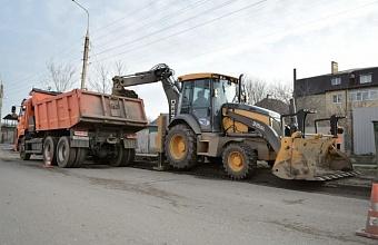 В Краснодаре приступили к ремонту дороги по ул. Российской