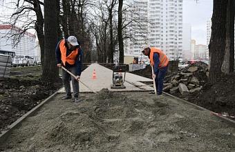 В Краснодаре идут работы по благоустройству бульвара «Героев-Разведчиков»
