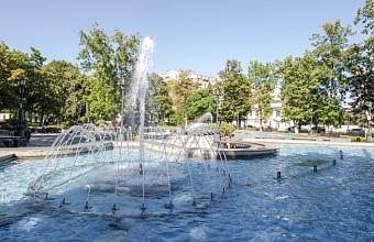Запустить фонтаны в Краснодаре планируют в апреле